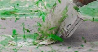 Desbaste de pavimentos de resina